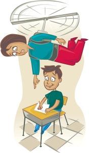 Hovering parent illustration